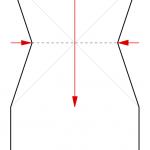 03) Seiten nach innen drücken und Spitze falten