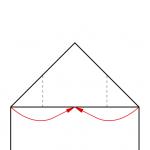 04) Oben liegende Ecken zur Mitte falten