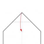 07) Spitze zur Basislinie des Dreiecks falten