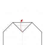 08) Spitze 1/3 über Falz (7) zurückfalten
