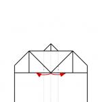16) Standflächen nach innen klappen